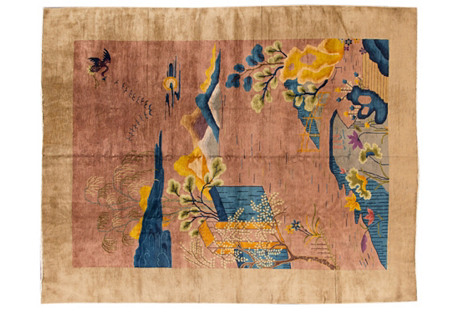Chinese Art Deco Rug, 9' x 12'