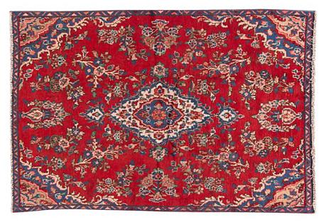 Red Persian Rug, 4'10