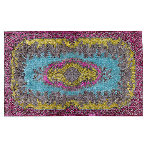 "Turkish Overdyed Rug, 5'8"" x 9'4"""