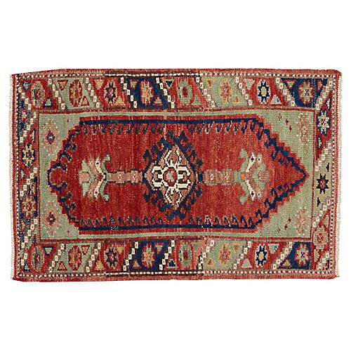 "Vintage Anatolian Rug, 2'5"" x 3'8"""