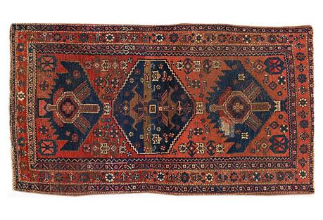 Antique Rust Persian, 2'8