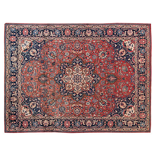 "Antique Tabriz Rug, 9'5"" x 12'7"""