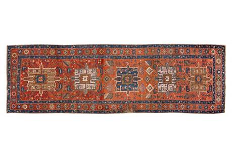 Antique Rust Persian, 3'4