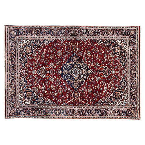 """Persian Kashan Rug, 8'1"""" x 11'6"""""""