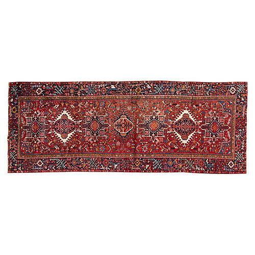 "Antique Persian Heriz Rug, 4'8"" x 12'2"""