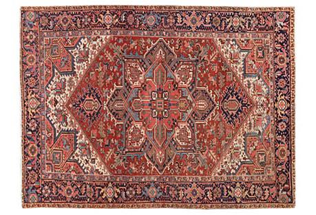 Antique Red Persian Heriz, 8' x 11'5