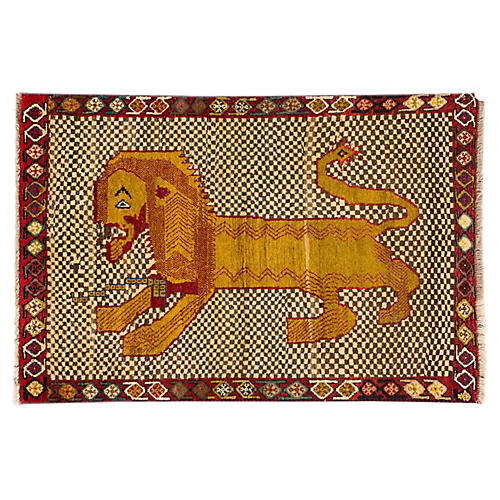 "Persian Pictorial Gabbeh, 3'3"" x 4'10"""
