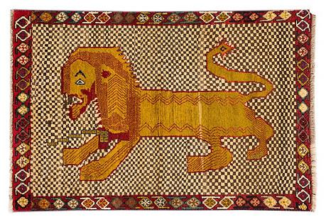 Persian Pictorial Gabbeh, 3'3