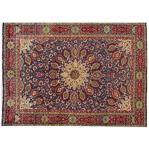 """Persian Tabriz Rug, 6'5"""" x 8'9"""""""