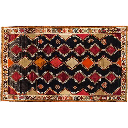 "Vintage Persian Shiraz Rug, 5' x 8'2"""