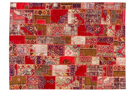 Overdyed Khotan Patch, 10' x 13'6