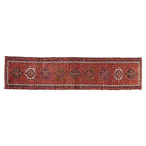 """Vintage Persian Heriz, 3'4"""" x 14'6"""""""