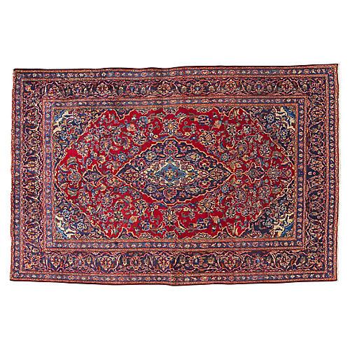 """Vintage Persian Kashan Rug, 6'1"""" x 9'5"""""""