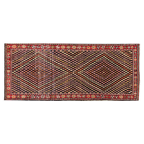 "Vintage Persian Shiraz, 3'11"" x 9'2"""