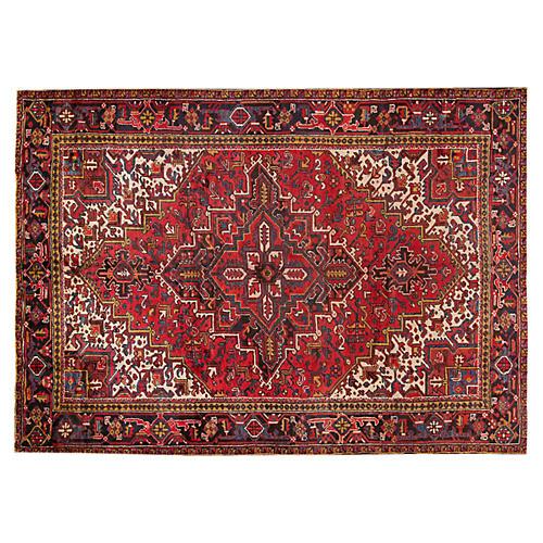 """Vintage Persian Heriz, 7'3"""" x 9'9"""""""