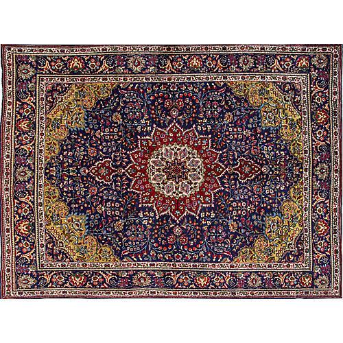 """Vintage Tabriz, 7'10 x 11'1"""""""