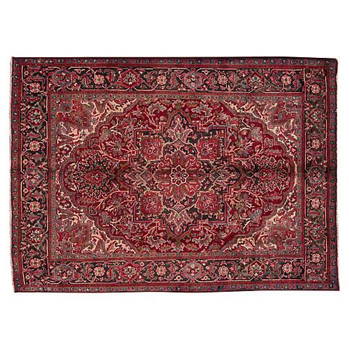 """Vintage Persian Heriz, 7' x 8'10"""""""