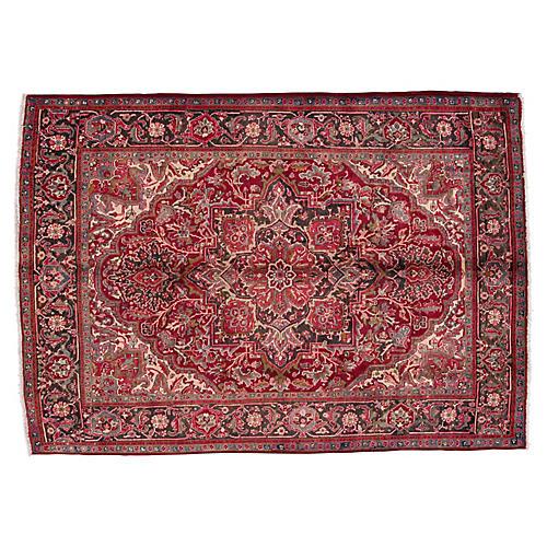 "Vintage Persian Heriz Rug, 7' x 8'10"""