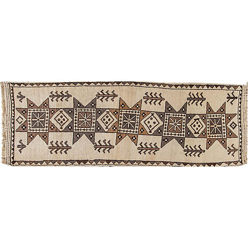 "Vintage Persian Shiraz, 3'2"" x 11'9"""