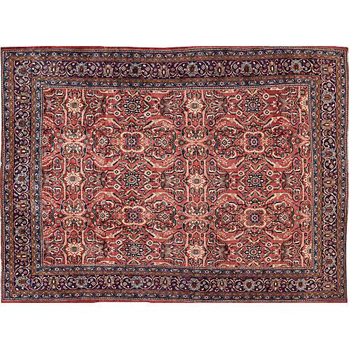 "Vintage Persian Tabriz, 9'8"" x 13'4"""