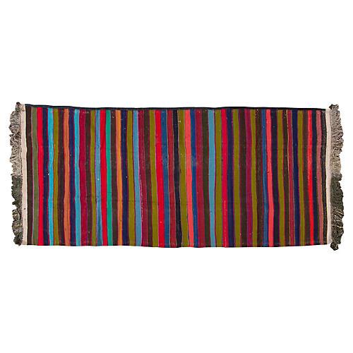 "Vintage Persian Kilim, 5' x 11'2"""