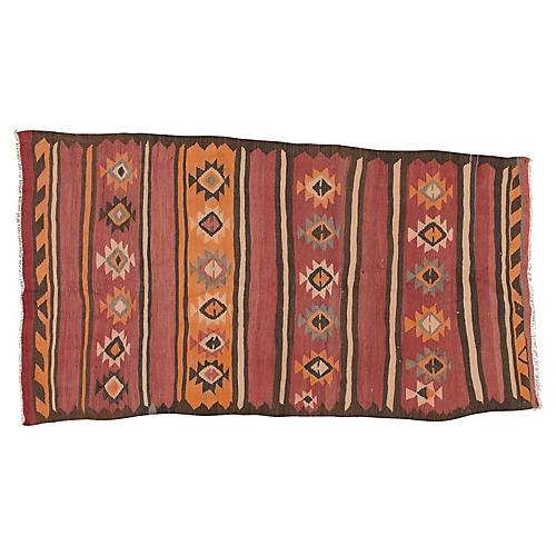 "Vintage Persian Kilim, 5'4"" x 9'6"""