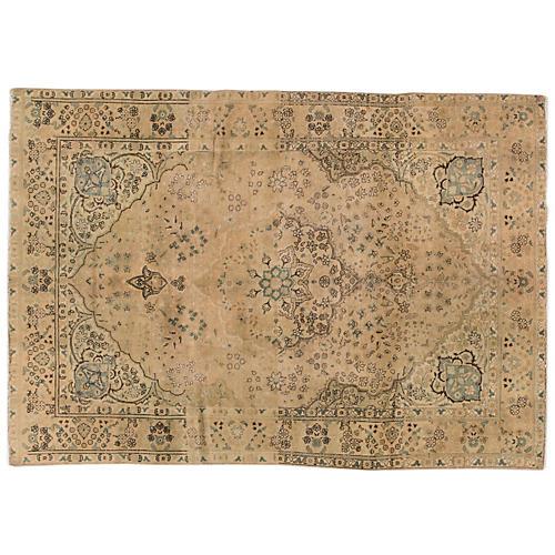 "Vintage Persian Tabriz, 6'5"" x 9'6"""