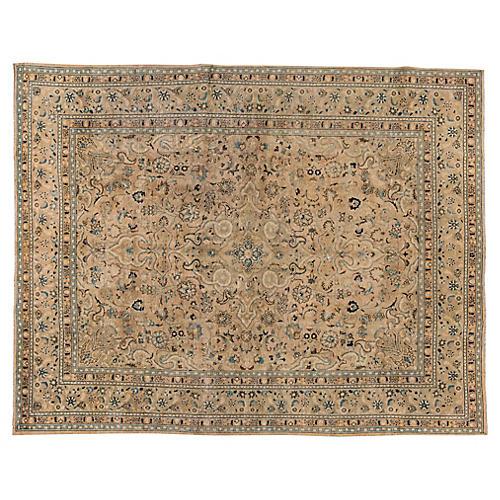 "Vintage Persian Tabriz, 9'7"" x 12'4"""