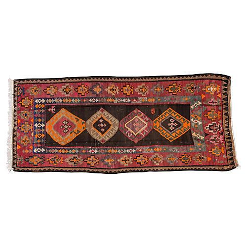 "Vintage Persian Kilim, 4'10"" x 11'4"""