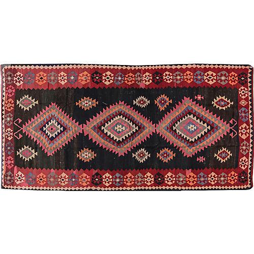 "Vintage Persian Kilim, 5'4"" x 10'8"