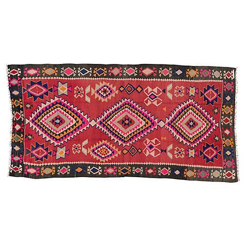 "Vintage Persian Kilim, 5'1"" x 10'1"""