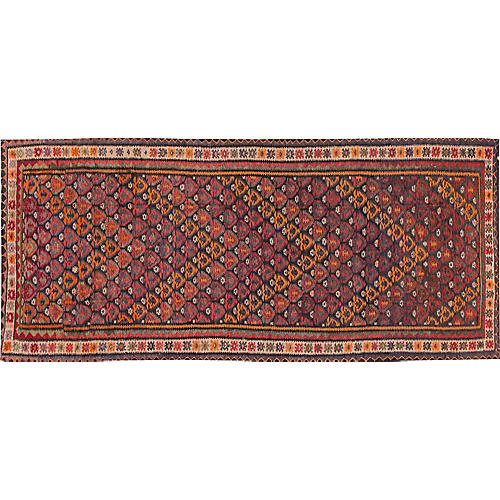 "Vintage Persian Kilim, 4'5"" x 10'"