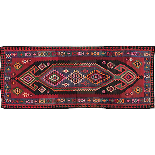 Vintage Persian Kilim, 5' x 12'