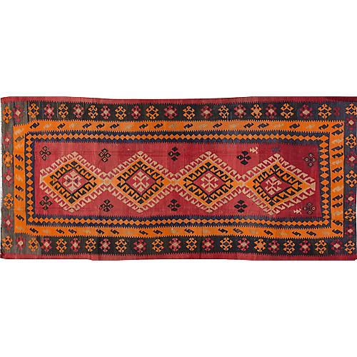 Vintage Persian Kilim, 5' x 11'