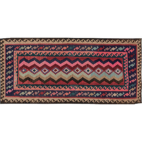 "Vintage Persian Kilim, 4'7"" x 10'5"""