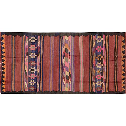 "Vintage Persian Kilim, 4'6"" x 9'4"""