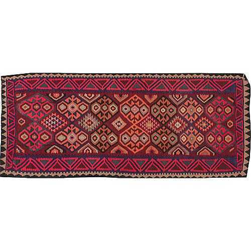 "Vintage Persian Kilim, 4'7"" x 11'"