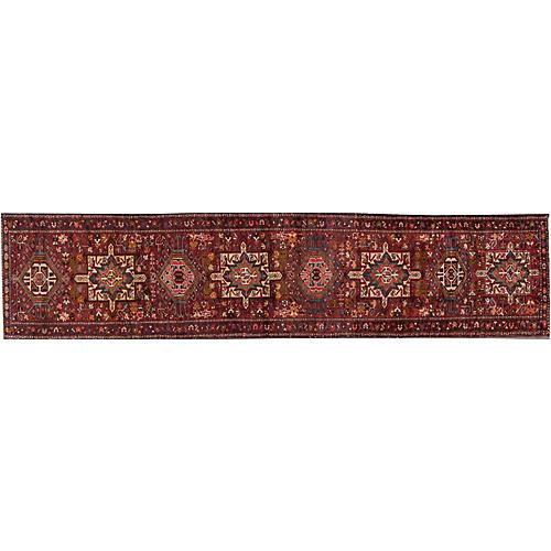 """Vintage Persian Heriz, 2'7"""" x 13'2"""""""