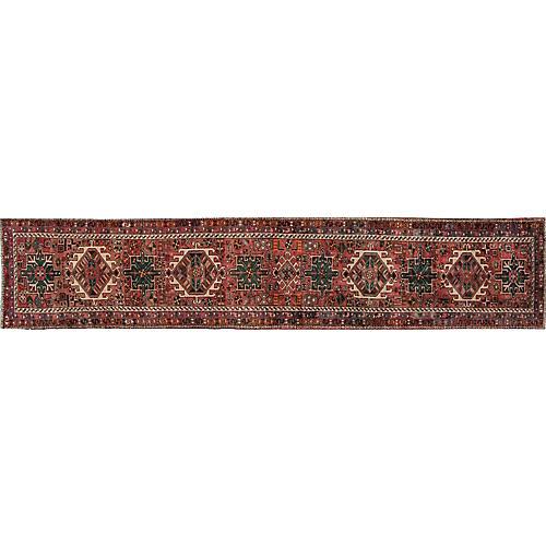 """Vintage Persian Heriz, 2'6"""" x 12'10"""""""