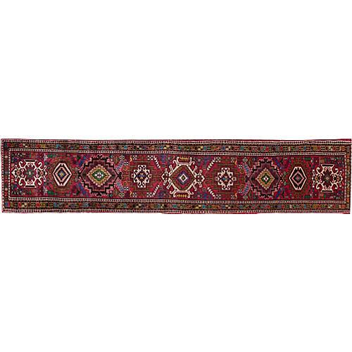 """Vintage Persian Heriz, 2'6"""" x 12'7"""""""