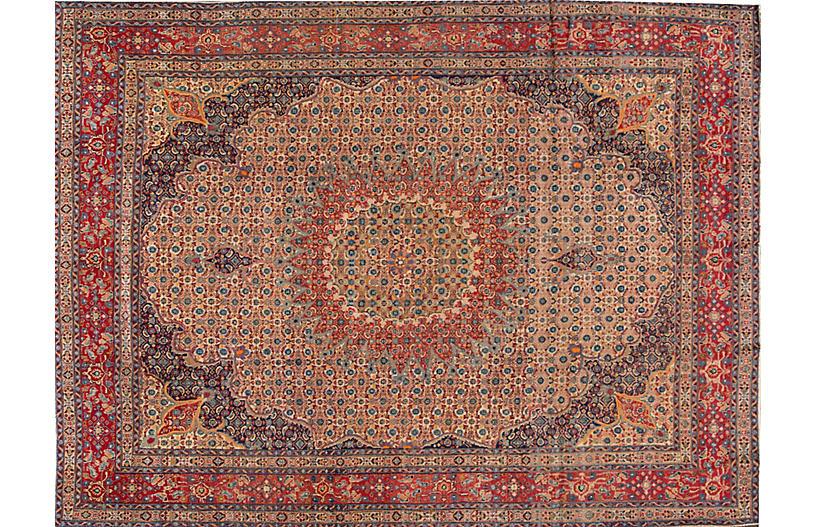 Vintage Persian Tabriz Rug, 8'8