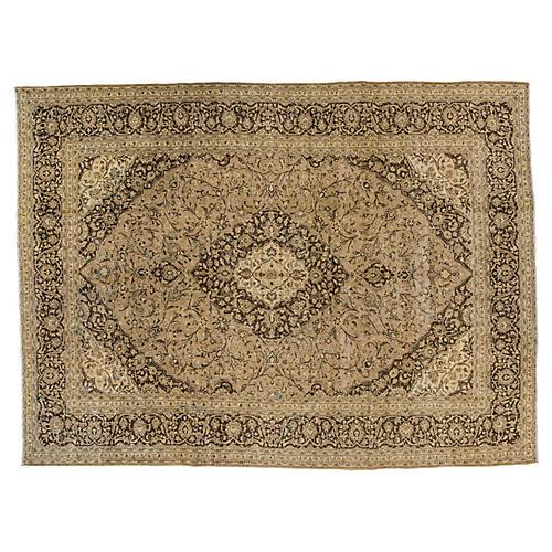 "Persian Tabriz Carpet, 9'6"" x 12'7"""