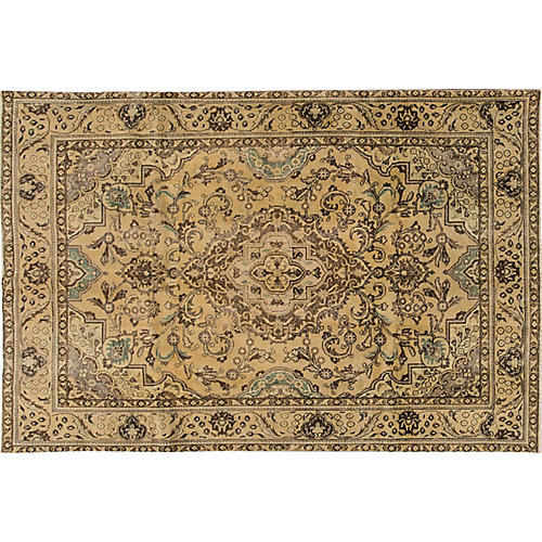 "Distressed Tabriz Rug, 6'2"" x 9'5"""