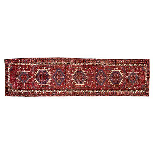"""Vintage Persian Heriz, 3'4"""" x 12'7"""""""