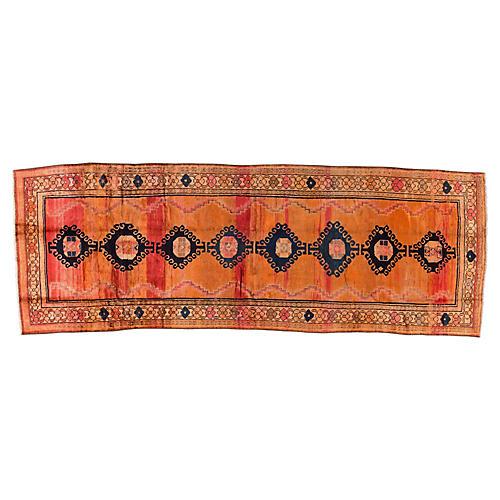 "Vintage Turkish Oushak, 4'5"" x 12'8"""
