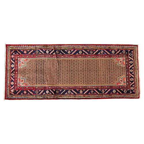 "Vintage Persian Kurd, 4' x 9'8"""