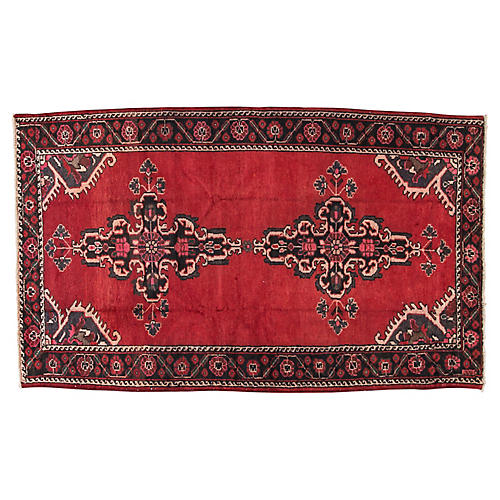 "Vintage Persian Hamadan, 4'4"" x 6'7"""