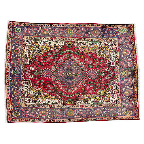 "Vintage Persian Tabriz, 4'8"" x 6'8"""