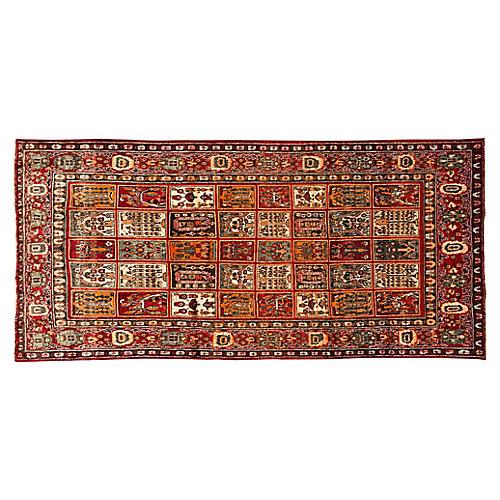 "Vintage Persian Bakhtiari, 5' x 10'8"""