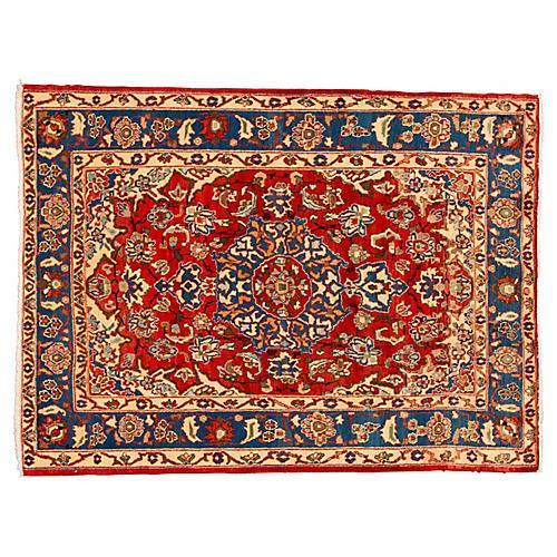"Vintage Persian Kashan, 5' x 6'8"""